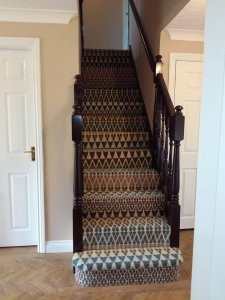 Hall stairs and landing after Juby Interior design (design, supply,fit and project manage)